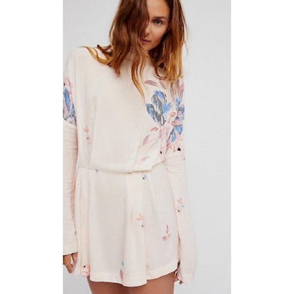 275d8711331a Free People Gemma Tunic Floral Mini Dress - Large